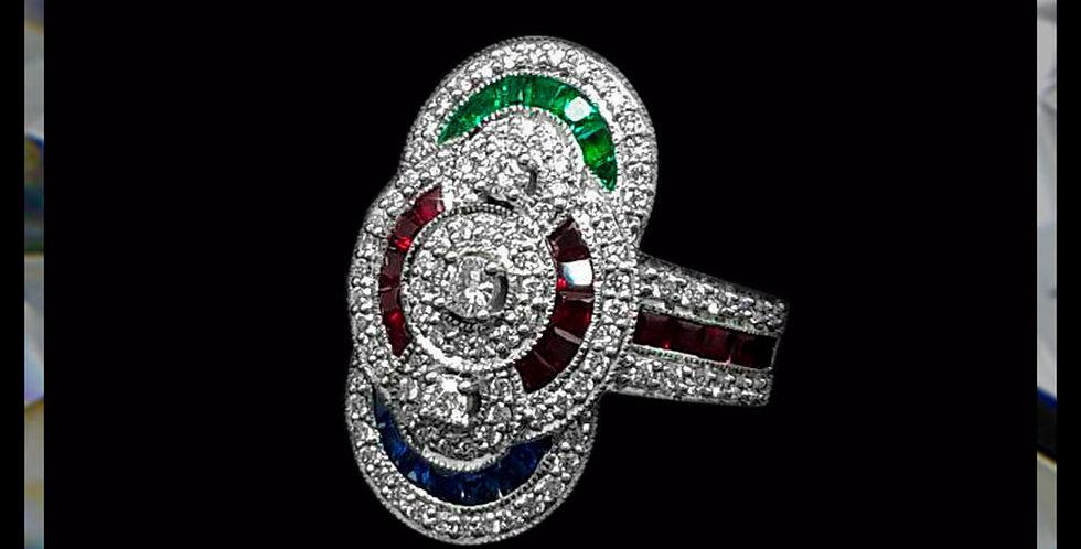 Art Déco Trio Ring