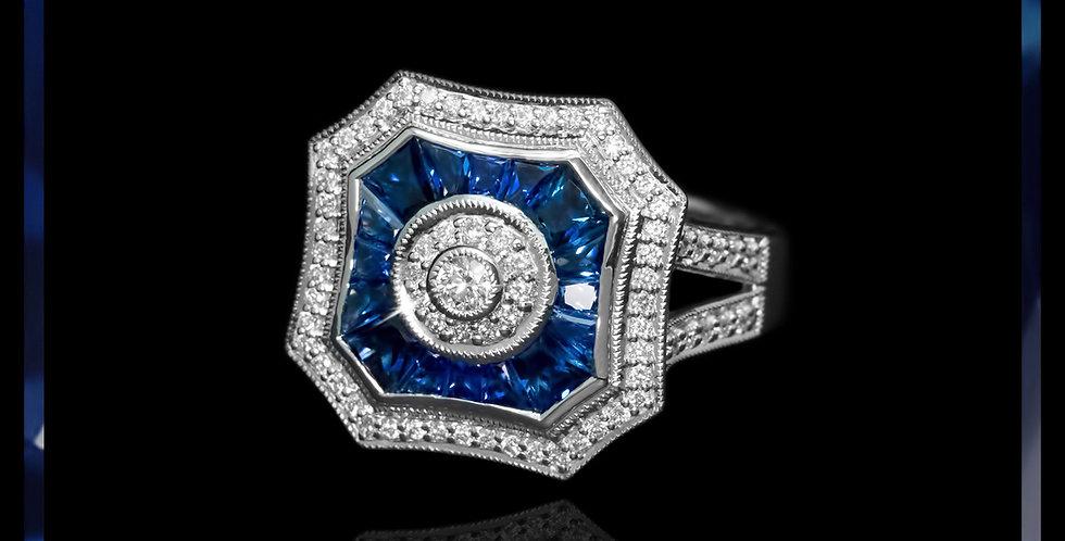 Art Déco Sapphire Ring