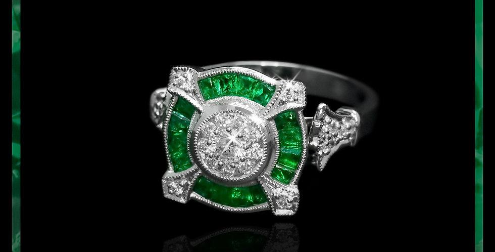 Art Déco Emerald Ring