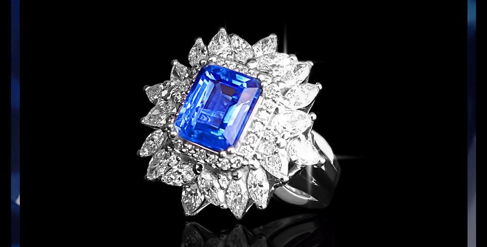 Avantgarde Cornflower Sapphire Cluster Ring