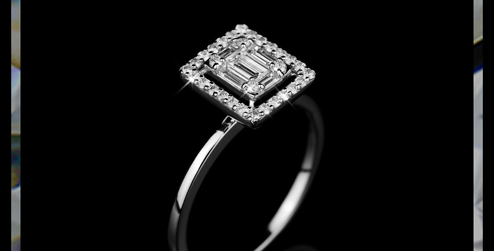 Arabesque Baguette Diamond Ring