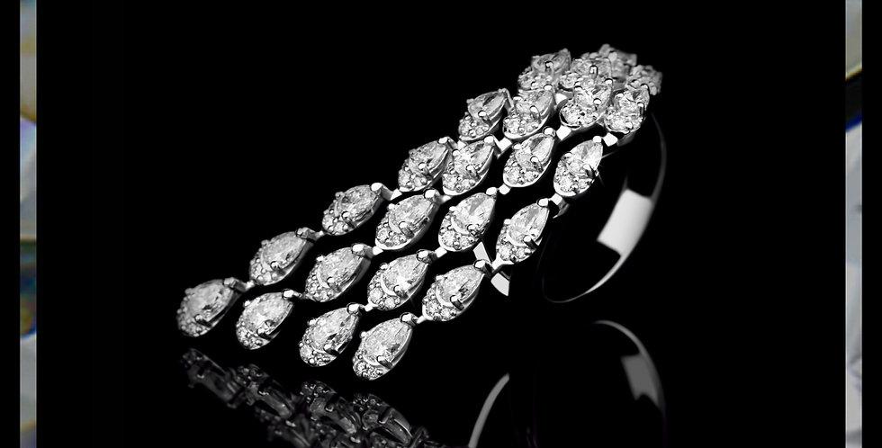 Avantgarde Diamond Waterfall Ring