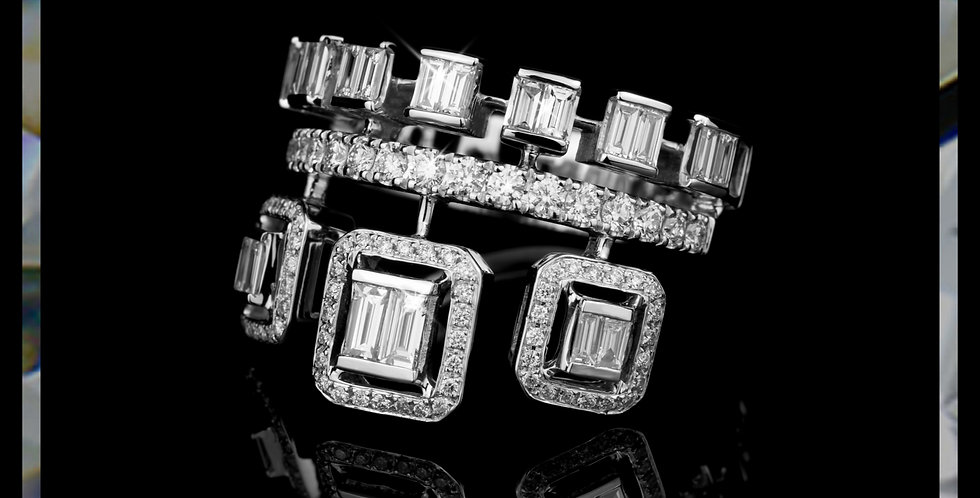 Arabesque Diamond Crown Ring