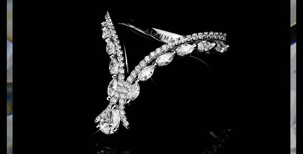 Damascene Pear Ring