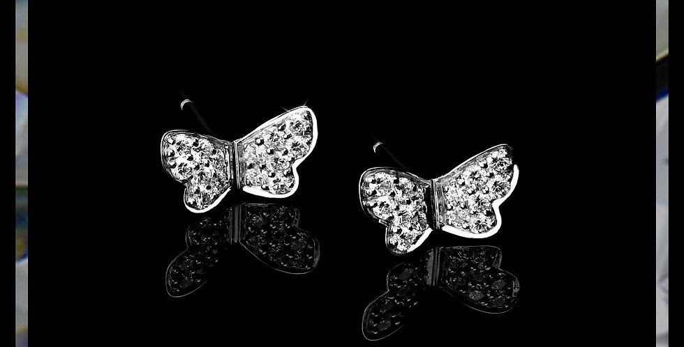 Damascene Butterfly Earrings