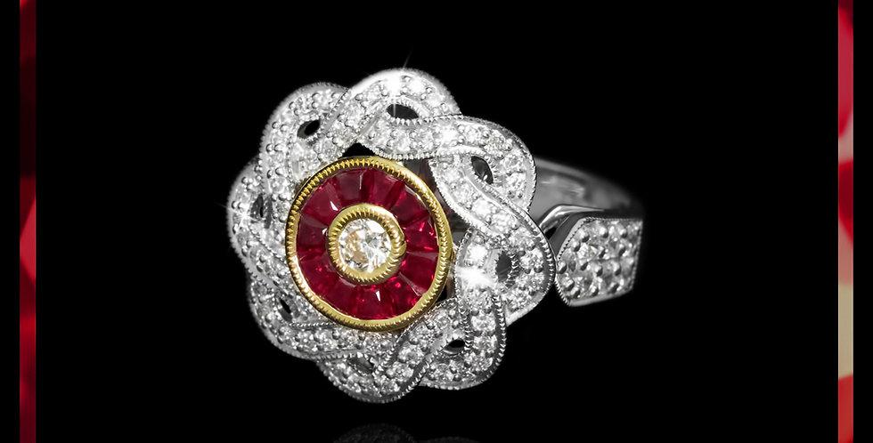 Art Déco Ruby Ring