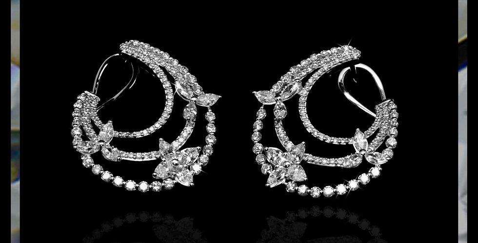 Avantgarde Jasmine Diamond Earrings