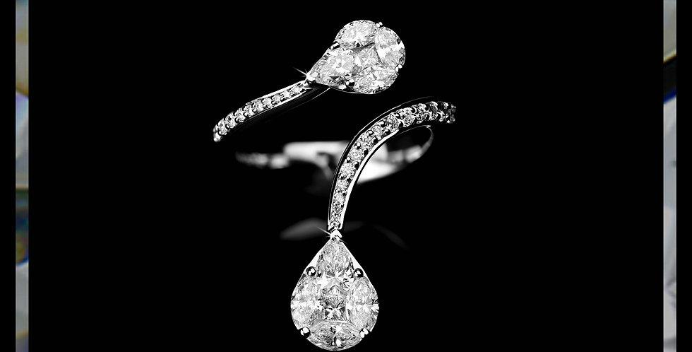 Damascene Double-Pears Ring