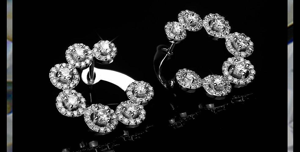Damascene Jasmine Earrings