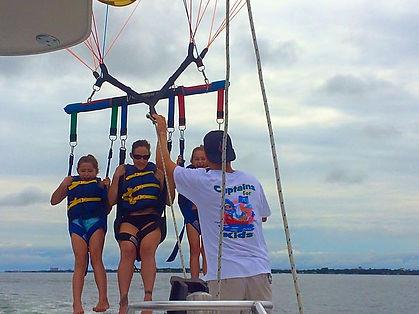 destin parasailing, just chute me, dockside watersports, captain jambos