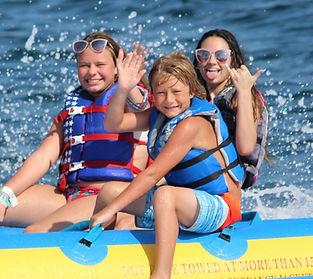 destin banana boat, mobile sports banana, sun dogs parasail, la dolce vita rentals