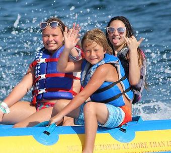 banana boat rides, destin banana boat, mobile sports, banana boat