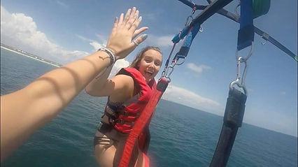 ft walton parasail, parasailing in destin fl, beach parasail in destin, destin banana boat, la dolce vita, ldv, beach rentals