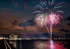 fireworks cruise in destin, destin sunset cruise, fort walton beach fireworks, harborwalk village, dolphin tour destin, fireworks in destin, destin fireworks