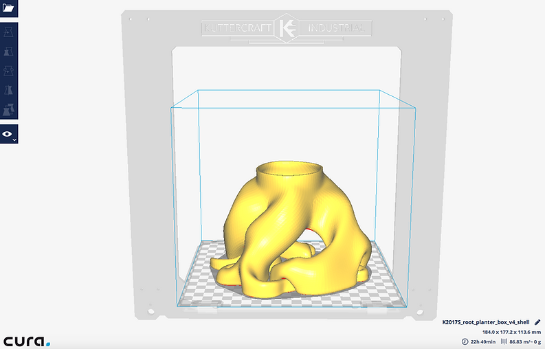 CURA Kuttercraft software de esliceo 3d