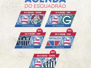 Série A: CBF divulga as três últimas rodadas do Brasileirão; veja os jogos do Bahia