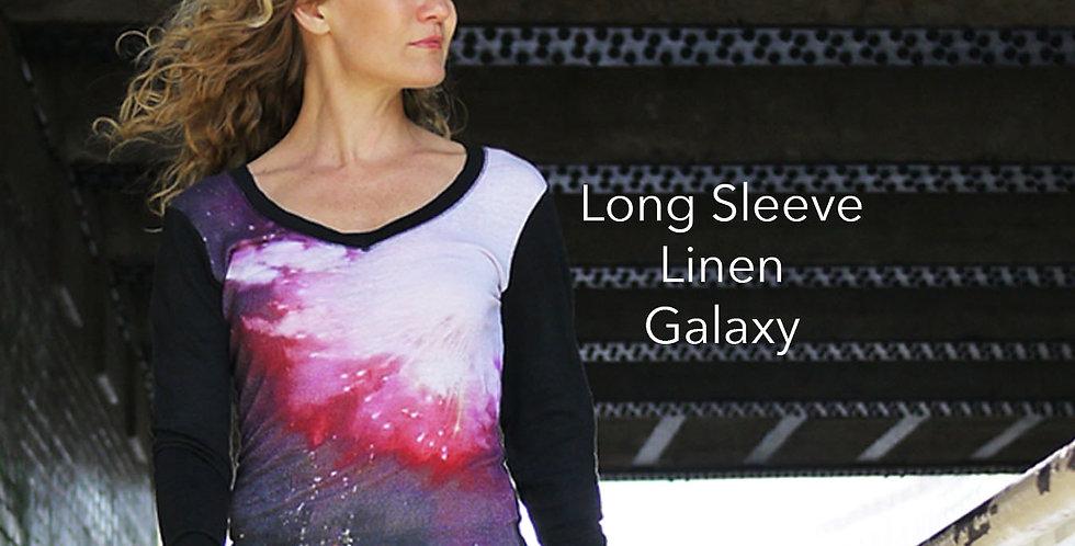Linen Long Sleeve Galaxy Top