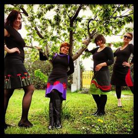 Poppie, Purple Daisy, Green Jungle, Red Fire Skirts