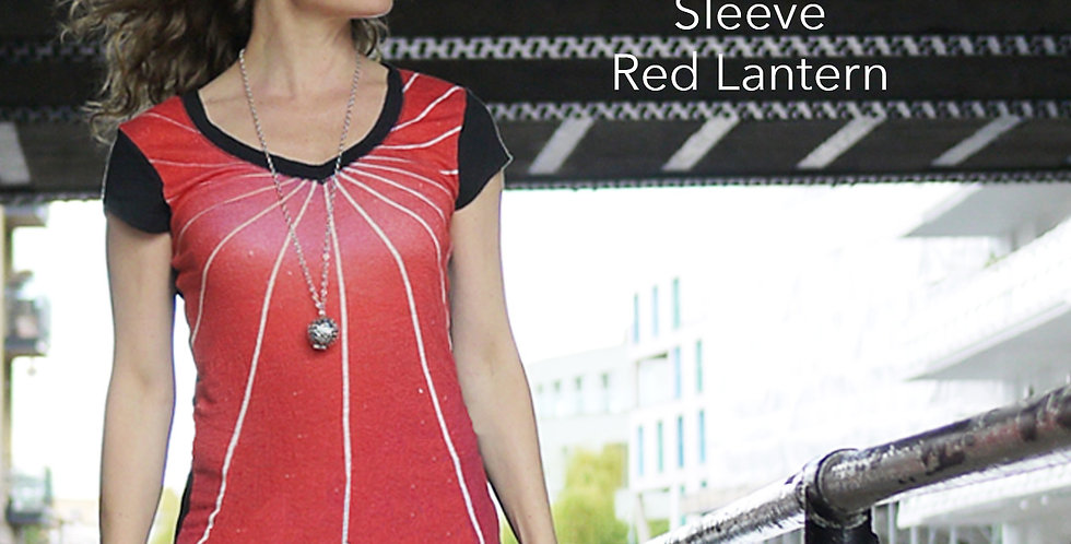 Short Sleeve Linen Red Lantern Top