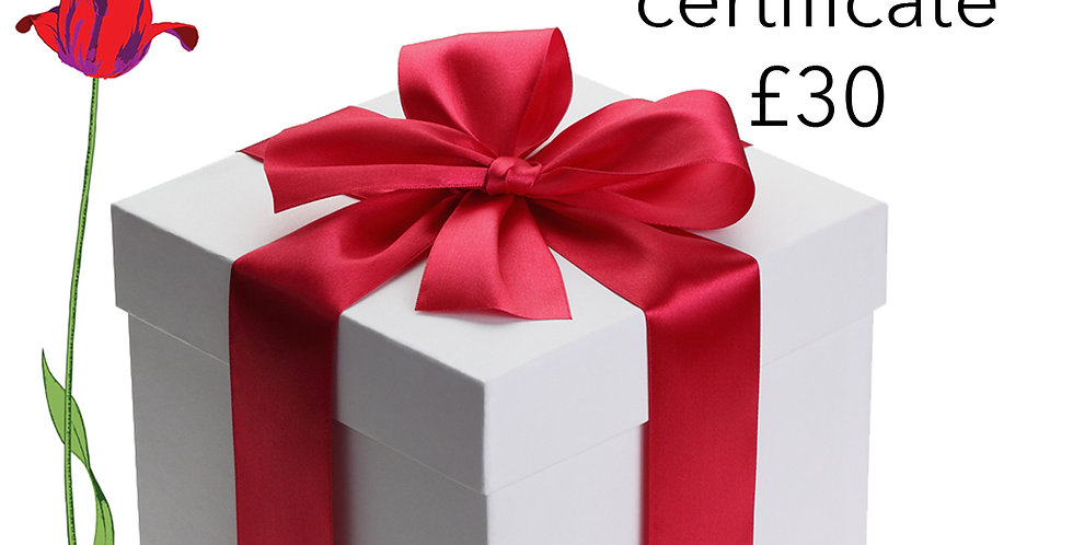 Gift Certificate £30