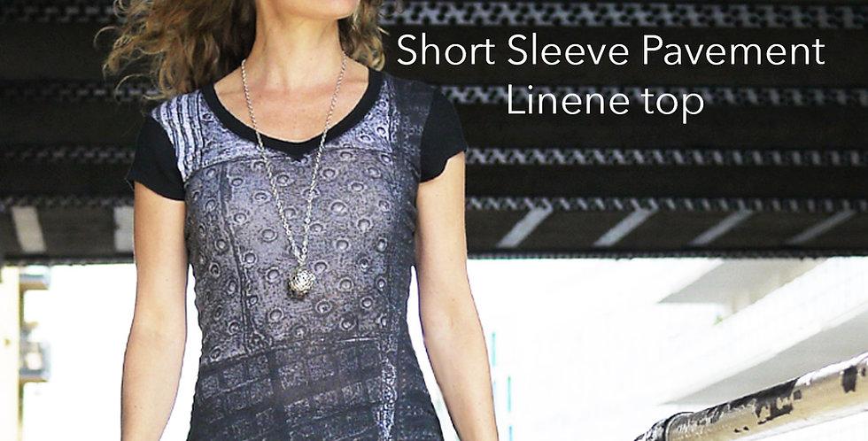 Linen Short Sleeve Pavement Top