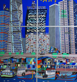 Romain Burgy_Vertical City_2015_gouache