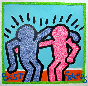 Homage-to-Keith-Haring-Best-Friends-scal