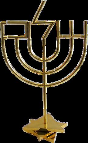 Yaacov Agam, Shalom Menorah, gold plated