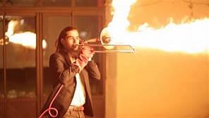 Flaming trombone