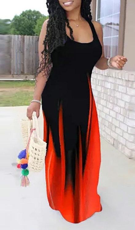 Fire Ombre Maxi Dress