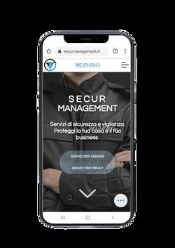 Mokup sito web Secur Management