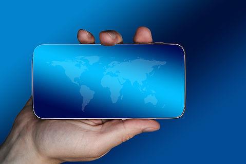 grrafica smartphone contenitore testo chi siamo secur management contatti.