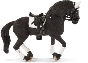 SCHLEICH FRISIAN STALLION - RIDING TOURNAMENT