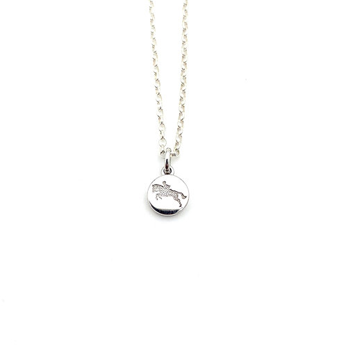 WHISTLE & POP JUMPING PONY PENDANT NECKLACE - STERLING SILVER