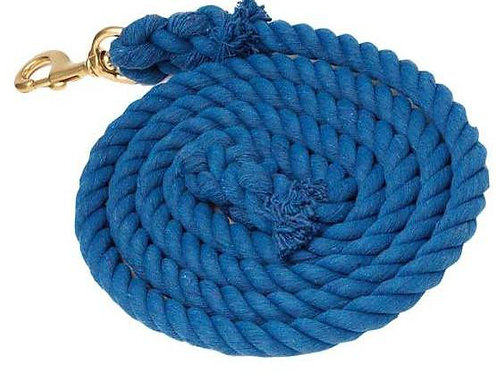 ZILCO COTTON ROPE LEAD W/ BRASS SNAP