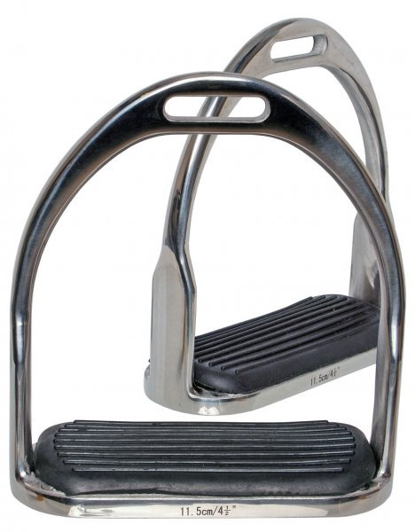 BLUE TAG OPEN BOTTOM STIRRUP WITH TREADS