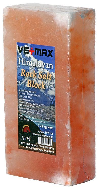 VETMAX HIMALAYAN ROCK SALT BLOCK - 2.25KG