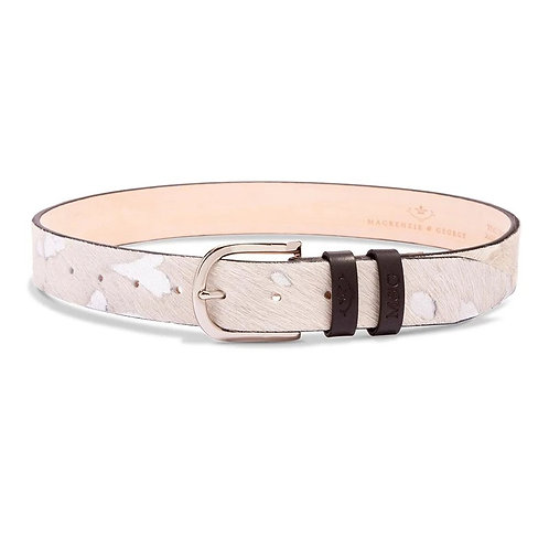 MACKENZIE & GEORGE TETBURY BELT : SHINE EDITION - WHITE & SILVER