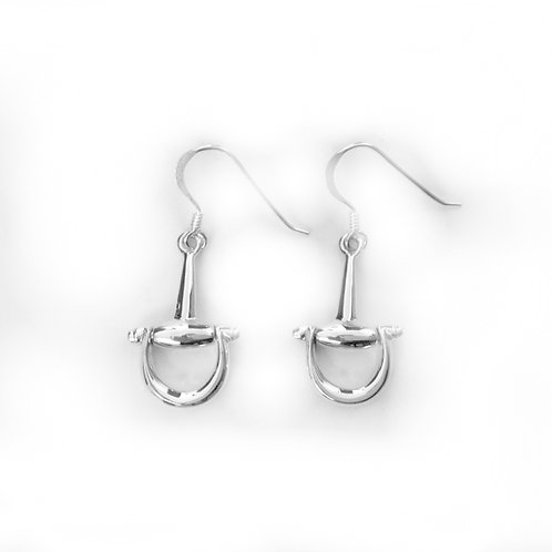 STERLING SILVER SNAFFLE EARRINGS