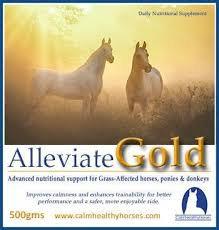 ALLEVIATE GOLD -250GM CALM HEALTHY HORSES