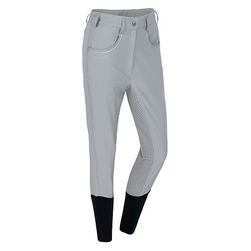 HARCOUR PALMDALE FULL GRIP LADIES BREECHES - GREY