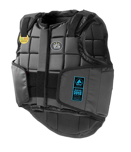 USG ADULTS FLEXI BODY PROTECTOR - BLACK