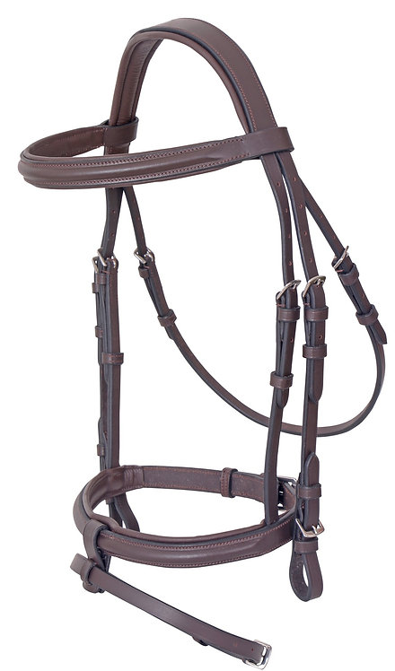 PLATINUM SHAPED PADDED BRIDLE