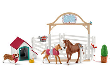 SCHLEICH HANNAH'S GUEST HORSES & DOG