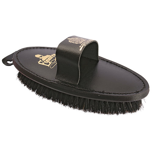 EQUERY BODY BRUSH - LEATHER BACK