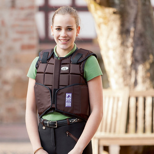 USG CHILDS FLEXI BODY PROTECTOR - BROWN