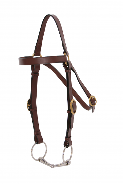 PLATINUM BARCO BRIDLE - HACK BROWN