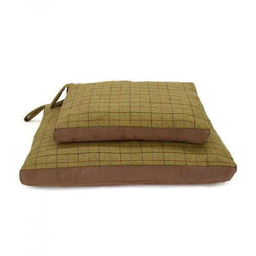 TWEED MILL DOG BED W/ SUEDE BASE - LARGE