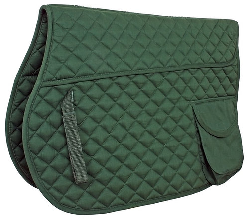 FLAIR DIAMOND QUILT SQUARE SADDLE CLOTH WITH POCKET