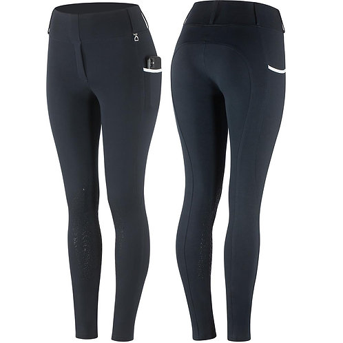 HORZE LUCINDA LADIES SILICON KNEE PATCH TIGHTS